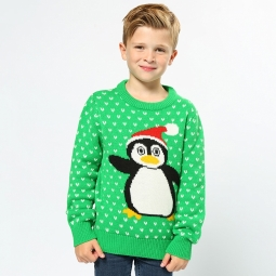 Penguin - 2D kids Christmas jumper