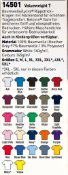 12 T-shirts KLEUR Fruit of the Loom