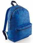 Bagbase Graphic backpack. Kleur Indigo Palm